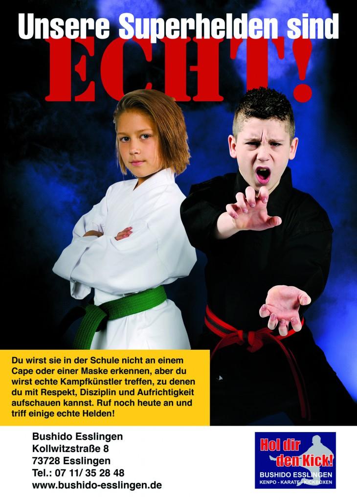 """Bushido Esslingen lädt Kinder zwischen fünf und acht Jahren am Samstag, 31. Oktober, um 9.30 Uhr zu einem Halloween-Training ein. Wer gut mitmacht, bekommt auch hier etwas Süßes, ohne mit """"Saurem"""" drohen zu müssen. Selbstverständlich dürfen die Kinder verkleidet kommen, wobei die Karate-Kids ihre Superhelden-Uniform - den Karate-Anzug - ja nicht nur an Halloween oder in der Fastnacht tragen. Melden Sie Ihr Kind noch heute zu einer Probestunde an."""