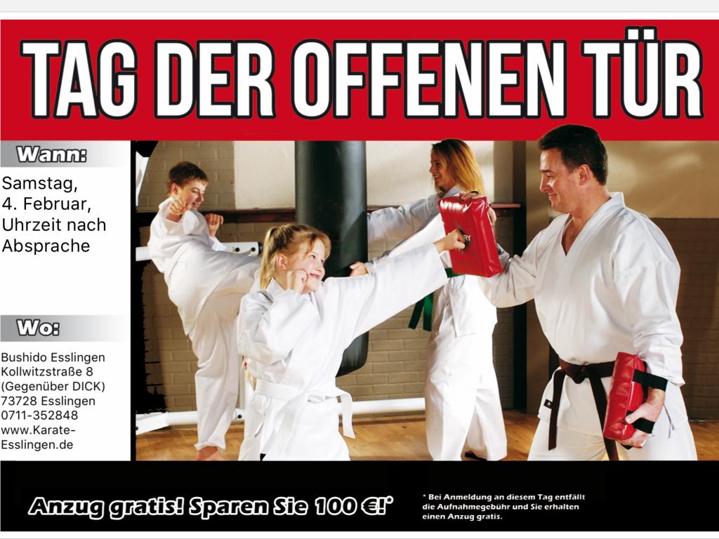 Karate Esslingen Tag der offenen Tür
